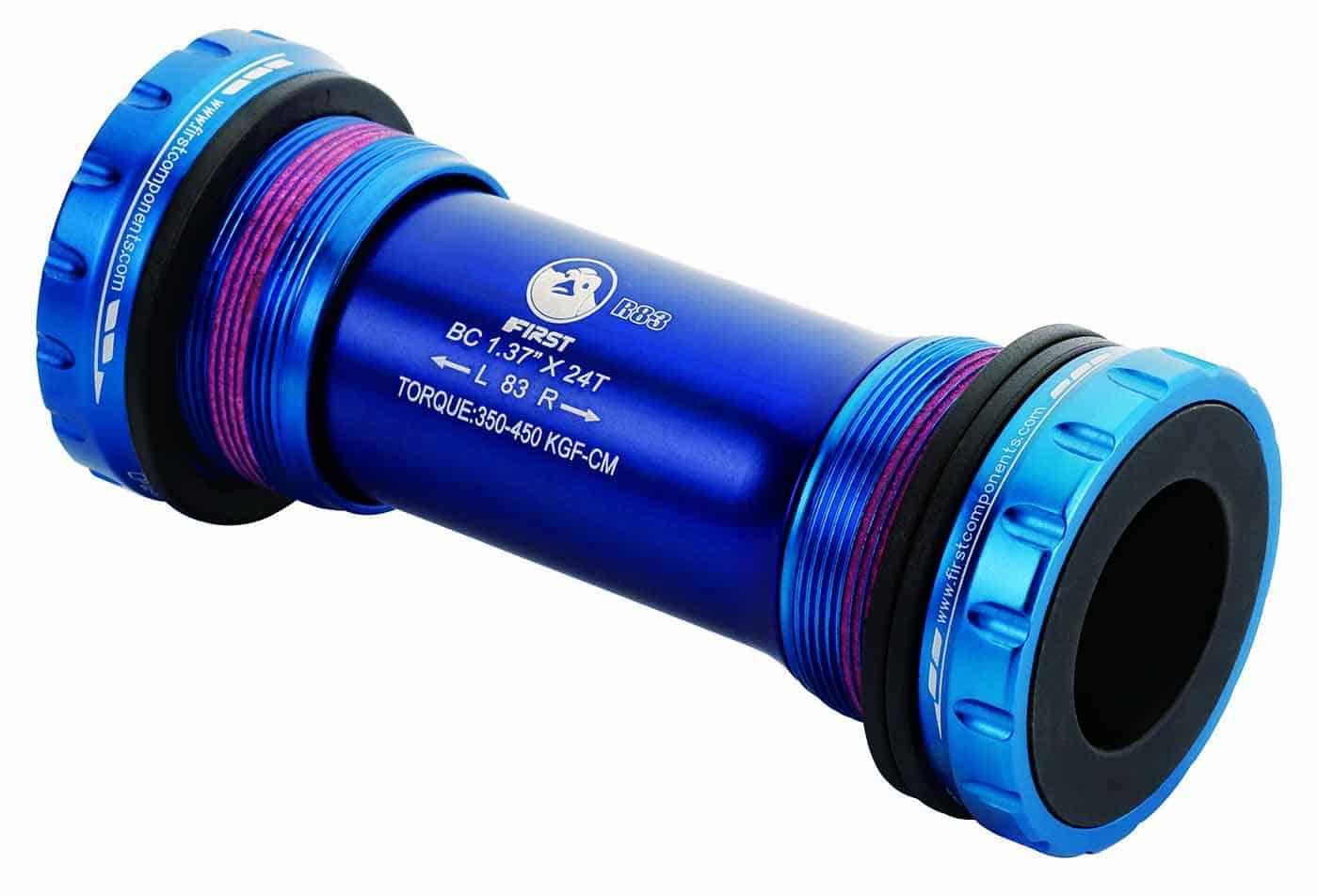 External Bottom Bracket sealed bearings for 83mm shell blue color