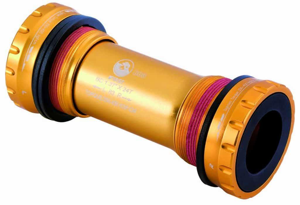 External Bottom Bracket sealed bearings for 83mm shell gold color