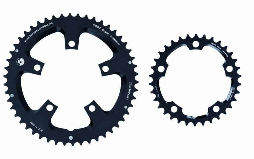 road bike chainring large ring and small ring
