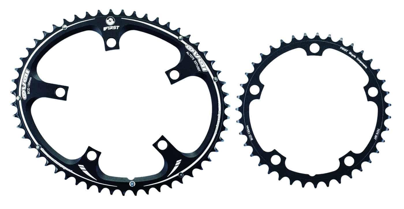 big oval chainring with small chainring