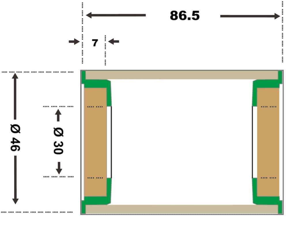 BB386/392 Evo Specification Diagram