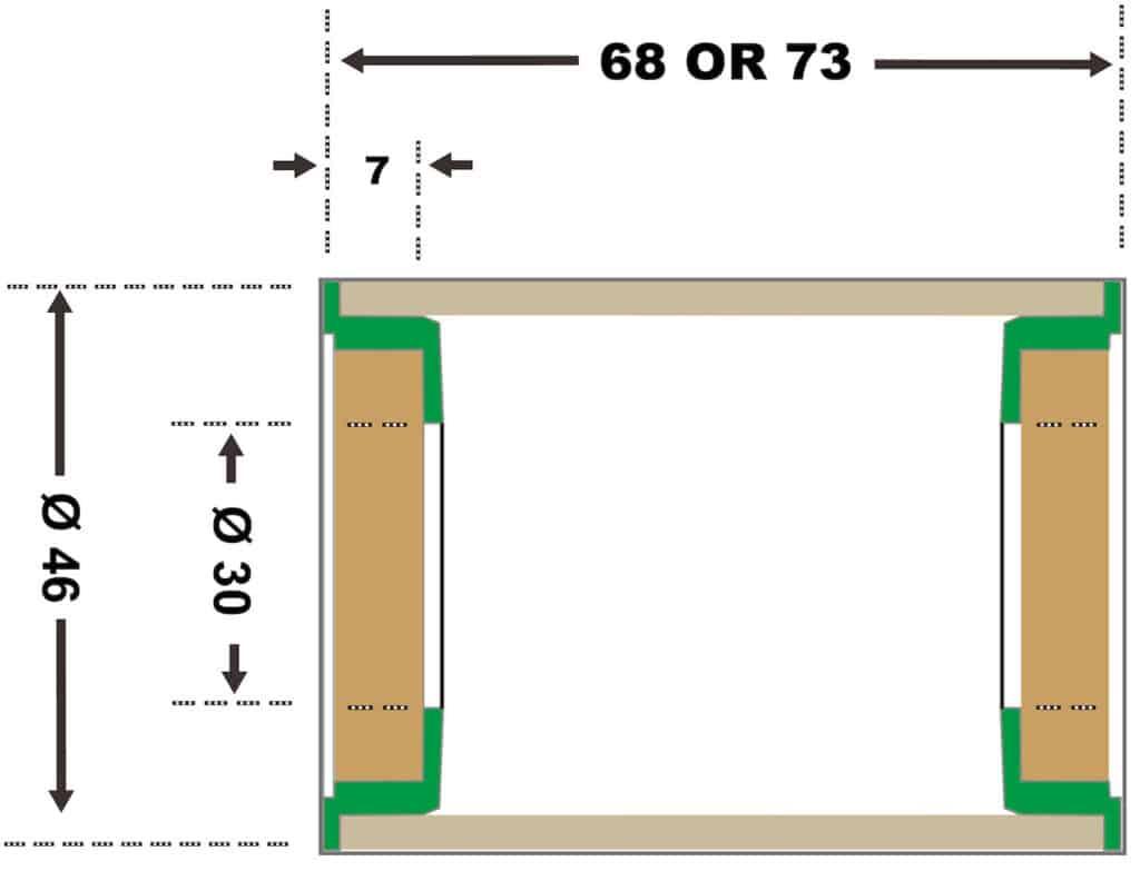 Press Fit 30 Spec Diagram
