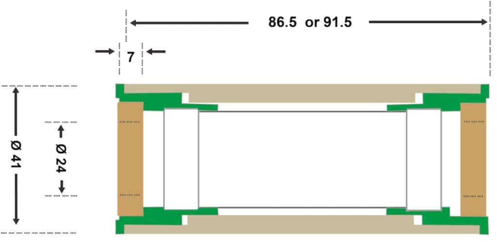 B86/92 Spec Diagram