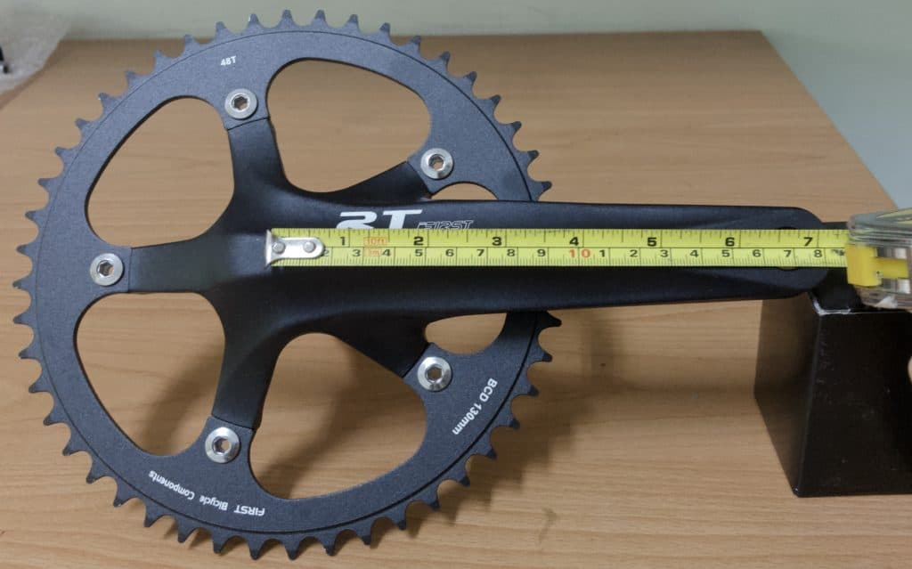 measuring bike crank arm length center to center