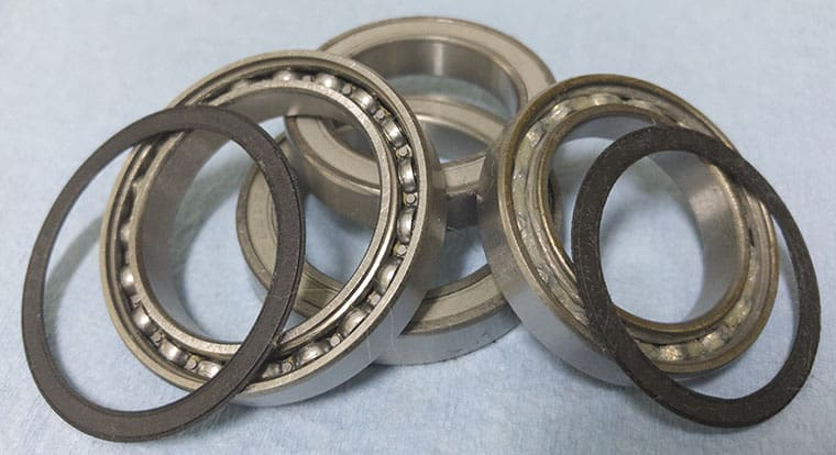 sealed bearings with seals removed