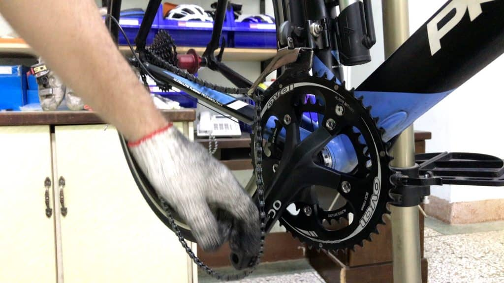 chain drops need derailleur adjustment
