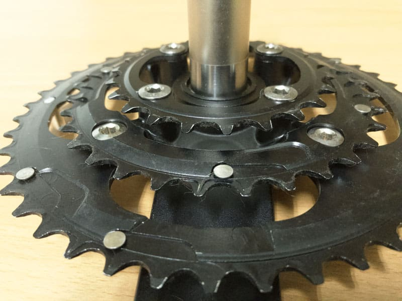 Chainrings Mounted on spider mounts