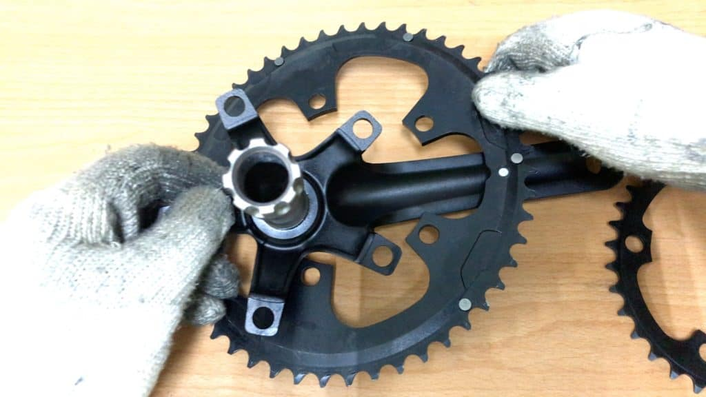 installing large oval chainring