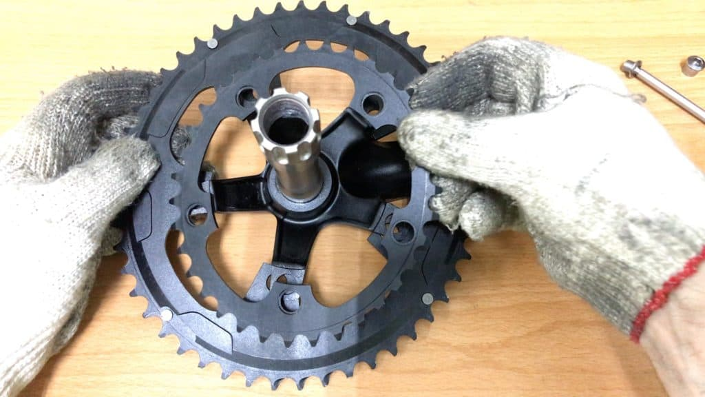 removing small chainring from spider