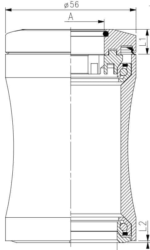 Non Tapered Head Tube diagram