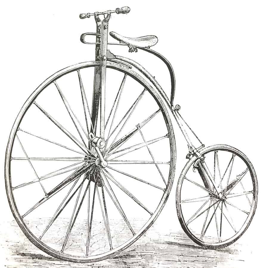 Ordinary Penny Farthing bike with flat bar