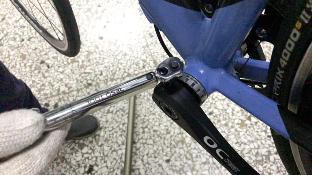 applying correct torque to Shimano crank pinch bolts