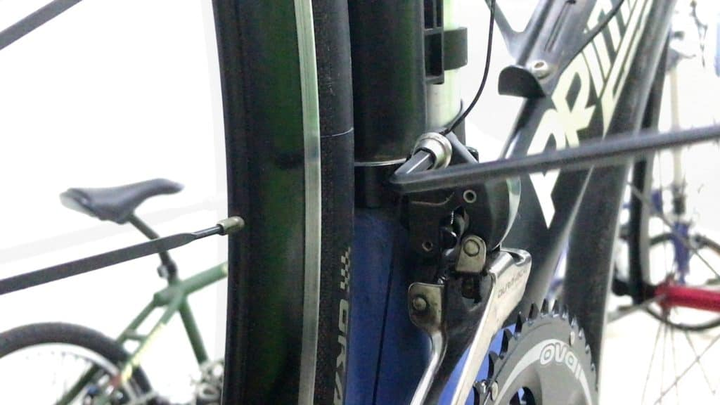 Tightening Derailleur Cable Bolt