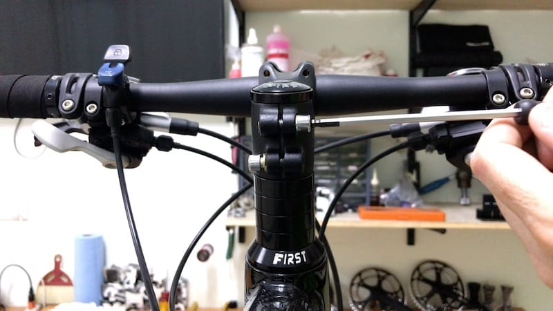 Loosening Right Stem Bolt